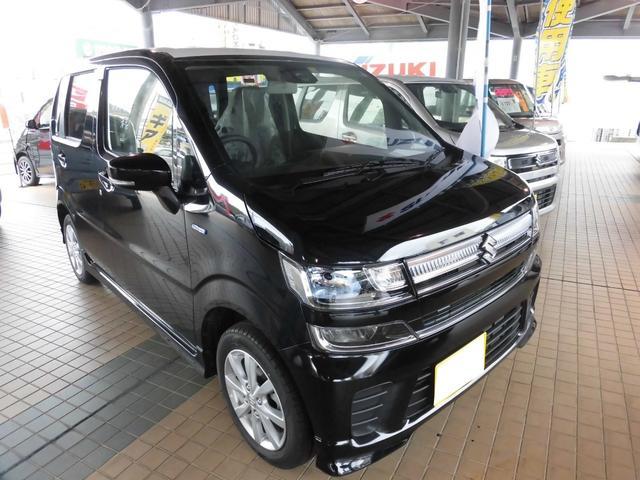 沖縄の中古車 スズキ ワゴンR 車両価格 140.9万円 リ済込 平成30年 10km ブルーイッシュブラックパール3