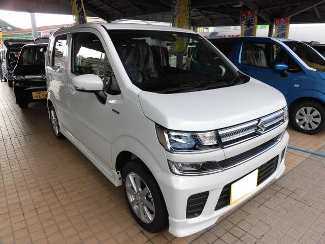 沖縄の中古車 スズキ ワゴンR 車両価格 140.9万円 リ済別 平成30年 5km ピュアホワイトパール