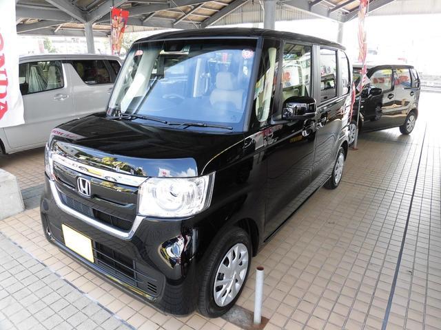 沖縄の中古車 ホンダ N-BOX 車両価格 159万円 リ済込 2019(令和1)年 5km ブラック