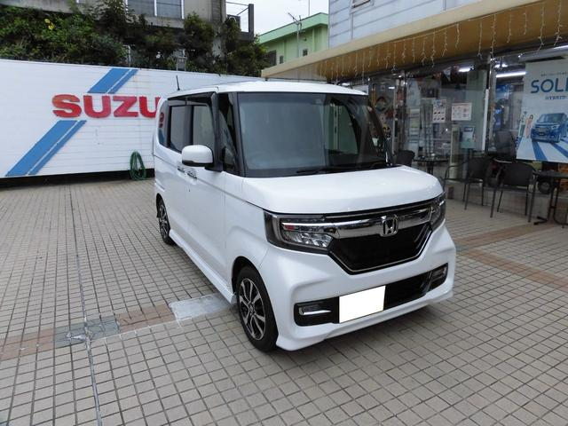 沖縄県の中古車ならN-BOXカスタム G・Lホンダセンシング 当社レンタUP車