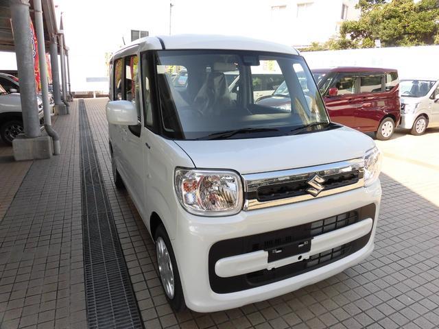 沖縄の中古車 スズキ スペーシア 車両価格 149.6万円 リ済別 新車  パールホワイト