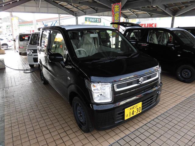 沖縄の中古車 スズキ ワゴンR 車両価格 118万円 リ済込 2019(令和1)年 5km ブラック