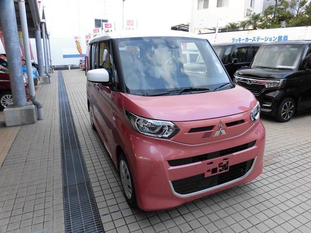 沖縄の中古車 三菱 eKスペース 車両価格 154.2万円 リ済別 新車  コーラルピンクメタリック ホワイトソリット
