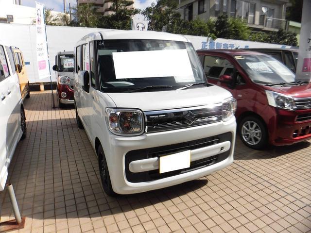 沖縄の中古車 スズキ スペーシア 車両価格 152.4万円 リ済別 新車  パールホワイト