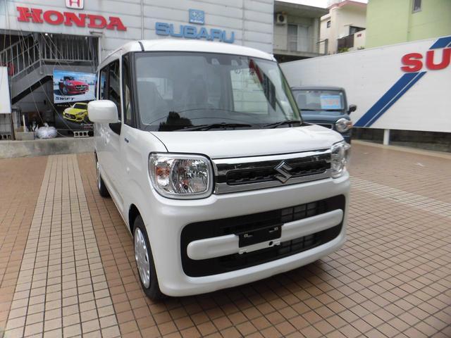 沖縄の中古車 スズキ スペーシア 車両価格 154万円 リ済込 2020(令和2)年 10km パールホワイト