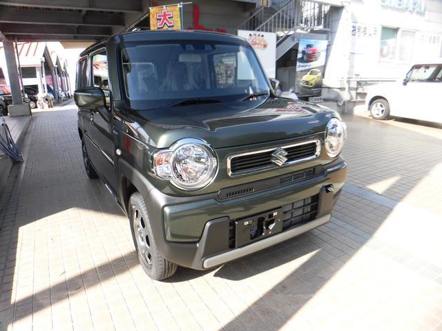沖縄の中古車 スズキ ハスラー 車両価格 136.5万円 リ済別 2021(令和3)年 9km グリーン