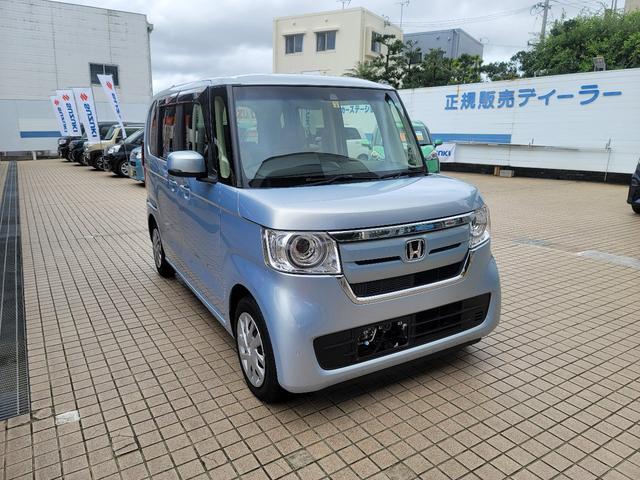 沖縄の中古車 ホンダ N-BOX 車両価格 138万円 リ済込 2018(平成30)年 2.3万km ライトブルー