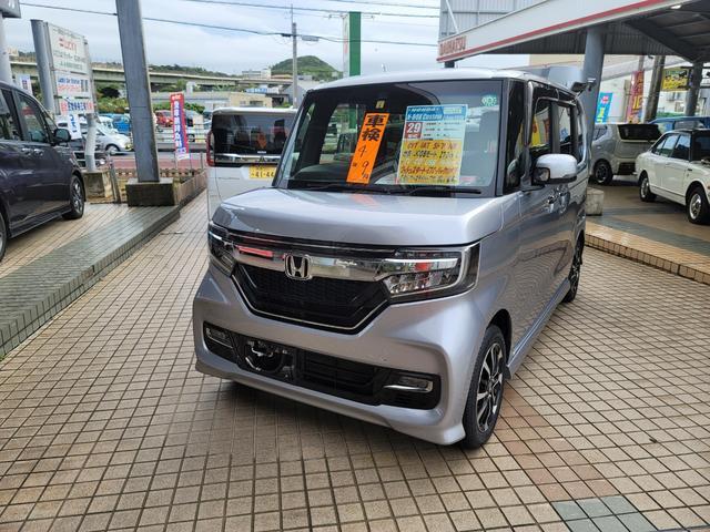 沖縄県の中古車ならN-BOXカスタム G・Lホンダセンシング 純正ワンセグTV/CDプレーヤー バックカメラ ETC 両側電動スライドドア