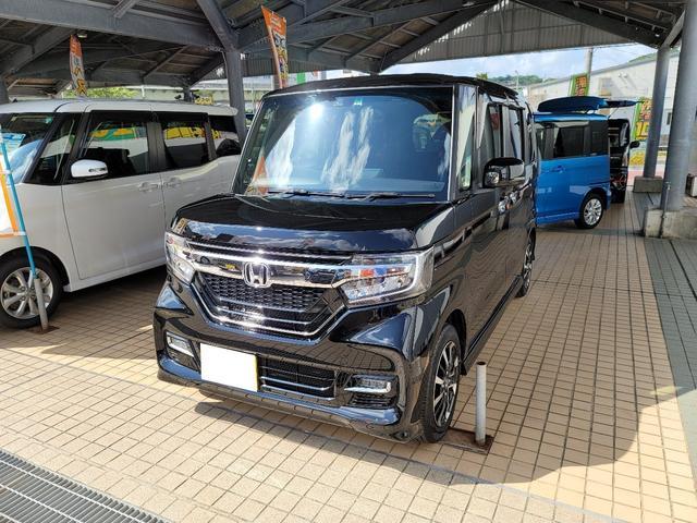 沖縄県の中古車ならN-BOXカスタム G・Lホンダセンシング 純正フルセグナビ バックカメラ ETC車載器