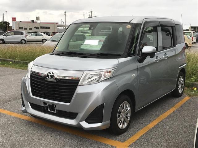 沖縄の中古車 トヨタ ルーミー 車両価格 135万円 リ済別 平成28年 5.6万km シルバー