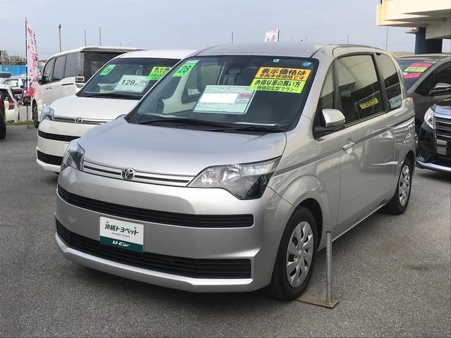 沖縄の中古車 トヨタ スペイド 車両価格 118.8万円 リ済別 平成28年 4.8万km シルバー
