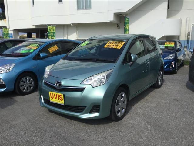沖縄の中古車 トヨタ ラクティス 車両価格 86.4万円 リ済別 平成26年 5.5万km グリーン