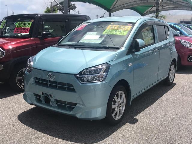 沖縄の中古車 トヨタ ピクシスエポック 車両価格 113.4万円 リ済別 2018(平成30)年 180km ライトブルーM