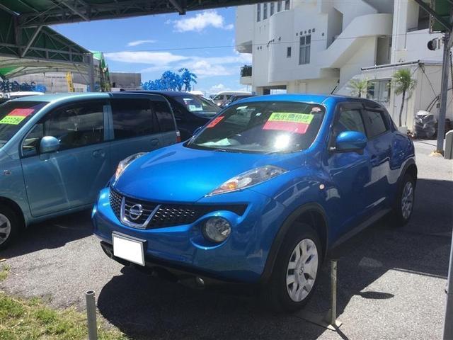 沖縄の中古車 日産 ジューク 車両価格 68万円 リ済別 2012(平成24)年 4.4万km ブルー