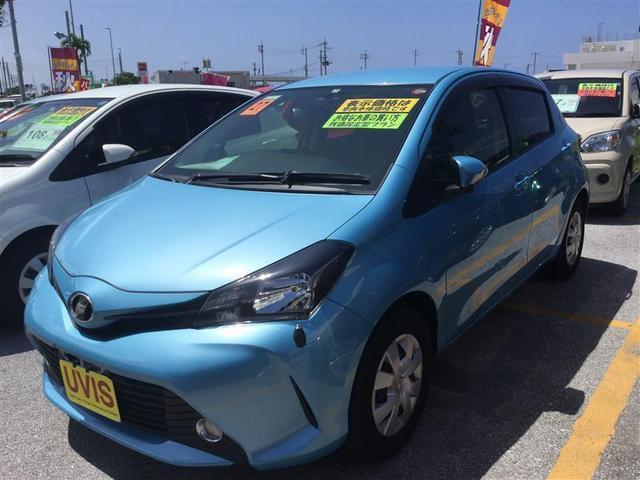 沖縄の中古車 トヨタ ヴィッツ 車両価格 98万円 リ済別 2015(平成27)年 1.1万km ブルー