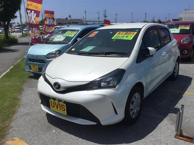 沖縄の中古車 トヨタ ヴィッツ 車両価格 99万円 リ済別 2015(平成27)年 1.8万km パールマイカ