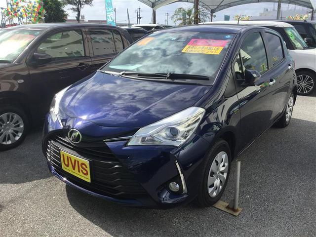 沖縄の中古車 トヨタ ヴィッツ 車両価格 135万円 リ済別 2019年 0.6万km ブルー