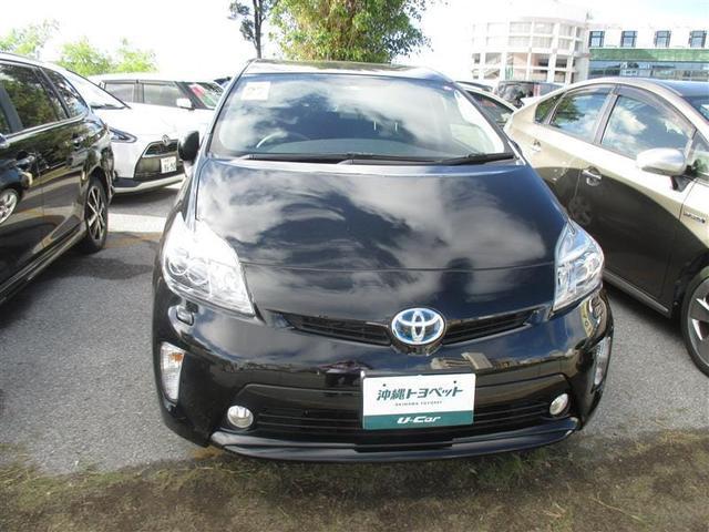 沖縄の中古車 トヨタ プリウス 車両価格 165万円 リ済別 2015(平成27)年 2.4万km ブラック