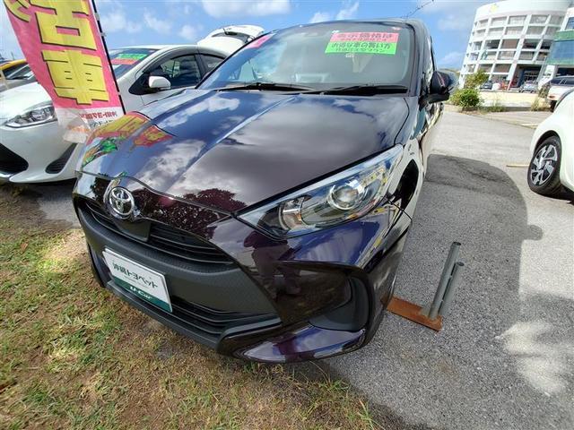 沖縄の中古車 トヨタ ヤリス 車両価格 149万円 リ済別・追 2020(令和2)年 0.4万km ワイン
