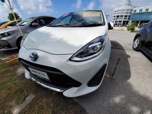 沖縄の中古車 トヨタ アクア 車両価格 179万円 リ済別 2020(令和2)年 0.5万km パールマイカ