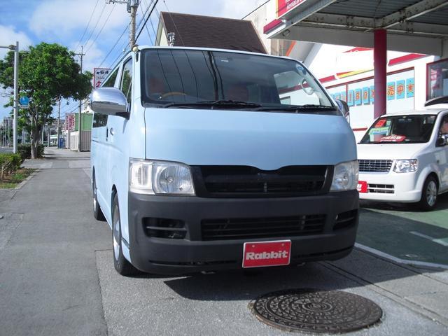 沖縄の中古車 トヨタ ハイエースバン 車両価格 149万円 リ済別 2006(平成18)年 10.3万km ブルー