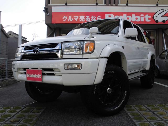 沖縄県の中古車ならハイラックスサーフ SSR-X ワイド リフトアップ車 社外アルミ ナビ