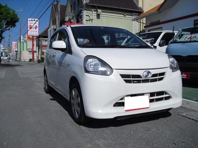 沖縄の中古車 ダイハツ ミライース 車両価格 37万円 リ済別 2014(平成26)年 4.8万km ホワイト