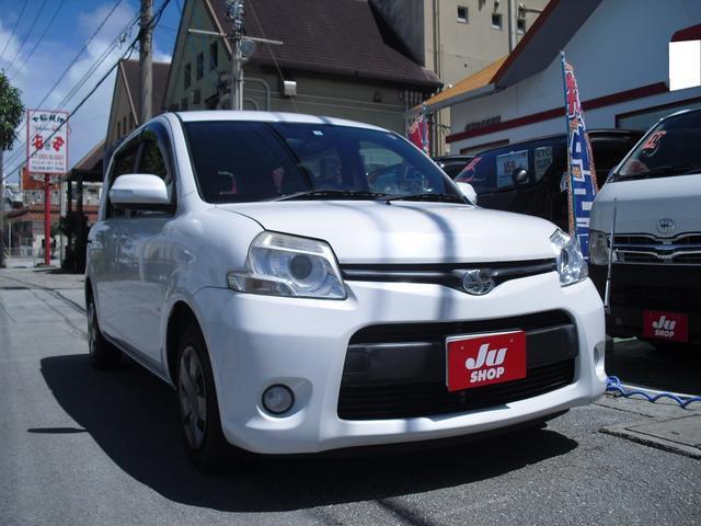 沖縄の中古車 トヨタ シエンタ 車両価格 49万円 リ済別 2012(平成24)年 5.0万km ホワイトパールクリスタルシャイン