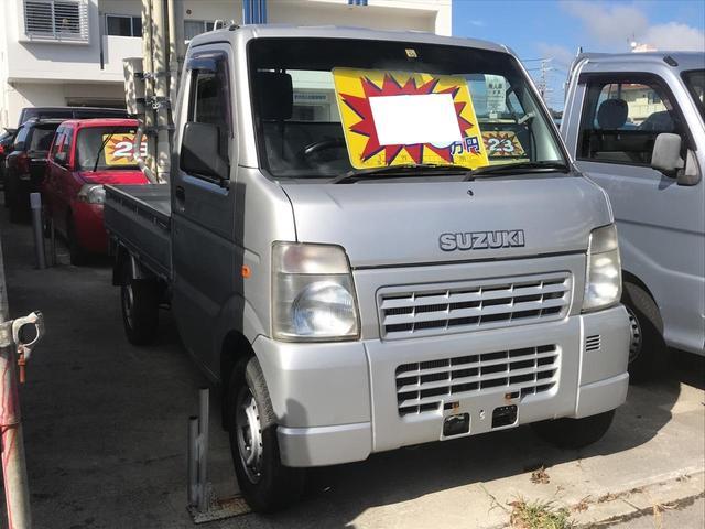 沖縄県の中古車ならキャリイトラック KCエアコン・パワステ 5速MT 三方開 パートタイム4WD
