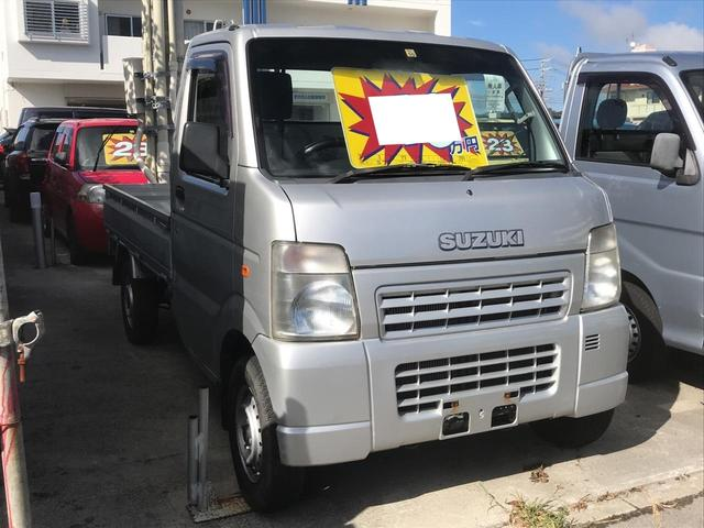 沖縄の中古車 スズキ キャリイトラック 車両価格 49万円 リ済込 2007(平成19)年 10.9万km シルバー