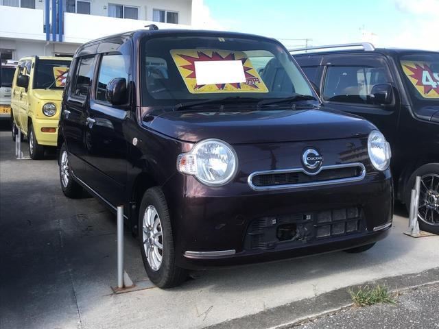 沖縄の中古車 ダイハツ ミラココア 車両価格 49万円 リ済込 2012(平成24)年 10.0万km DブラウンM