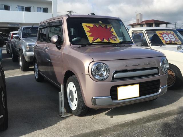 沖縄の中古車 スズキ アルトラパンショコラ 車両価格 88万円 リ済込 2015(平成27)年 2.0万km ピンクM