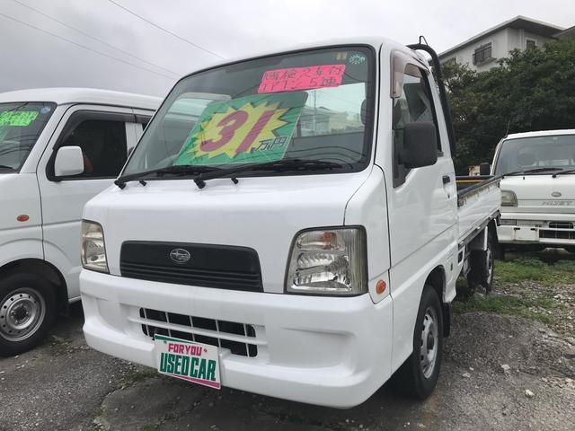 沖縄の中古車 スバル サンバートラック 車両価格 28万円 リ済込 平成16年 11.2万km ホワイト