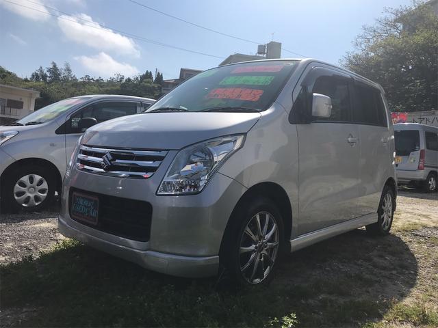 沖縄県の中古車ならワゴンR FXリミテッドII CD スマートキー プッシュスタート 社外アルミ エアロ ABS オートエアコン