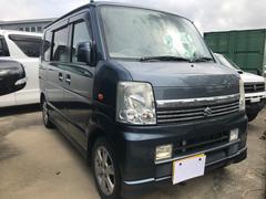沖縄の中古車 スズキ エブリイワゴン 車両価格 43万円 リ済込 平成18年 17.5万K ダークブルー