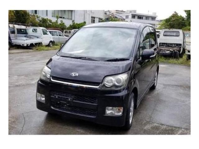 沖縄の中古車 ダイハツ ムーヴ 車両価格 25万円 リ済込 平成20年 10.3万km ブラック