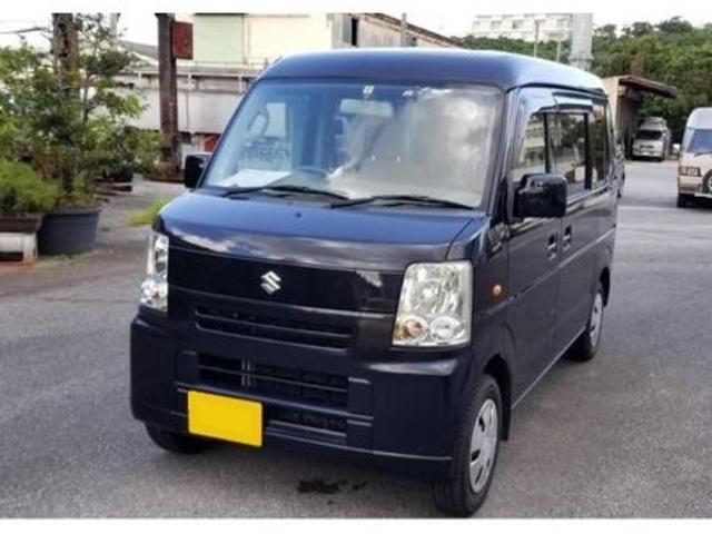 沖縄の中古車 スズキ エブリイワゴン 車両価格 25万円 リ済込 2008(平成20)年 17.8万km ブラック