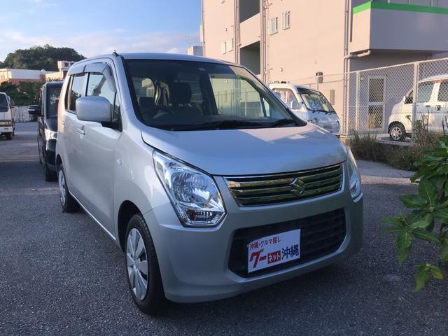 沖縄の中古車 スズキ ワゴンR 車両価格 33万円 リ済込 2013(平成25)年 7.4万km シルバー