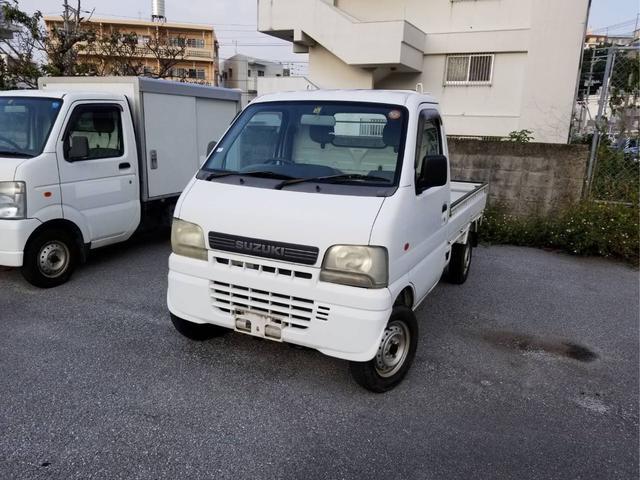 沖縄の中古車 スズキ キャリイトラック 車両価格 25万円 リ済込 2001(平成13)年 4.2万km ホワイト