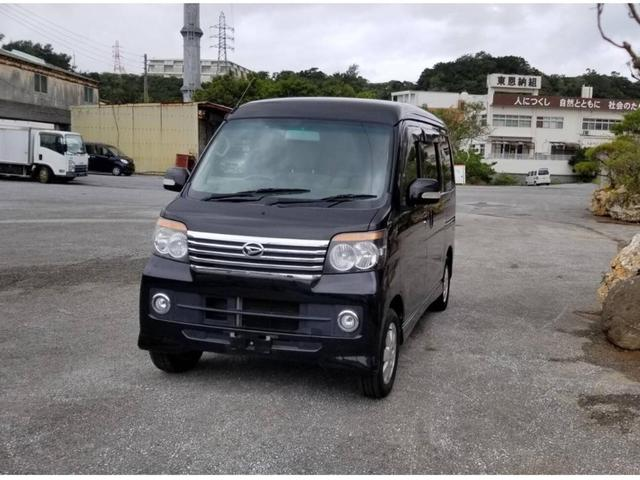 沖縄の中古車 ダイハツ アトレーワゴン 車両価格 46万円 リ済込 2013(平成25)年 9.7万km ブラック