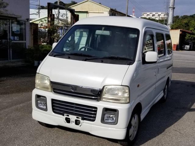 沖縄県中頭郡中城村の中古車ならエブリイワゴン ジョイポップターボPZ ハイルーフ エアコン パワステ パワーウィンドウ 両側スライドドア Rスポイラー