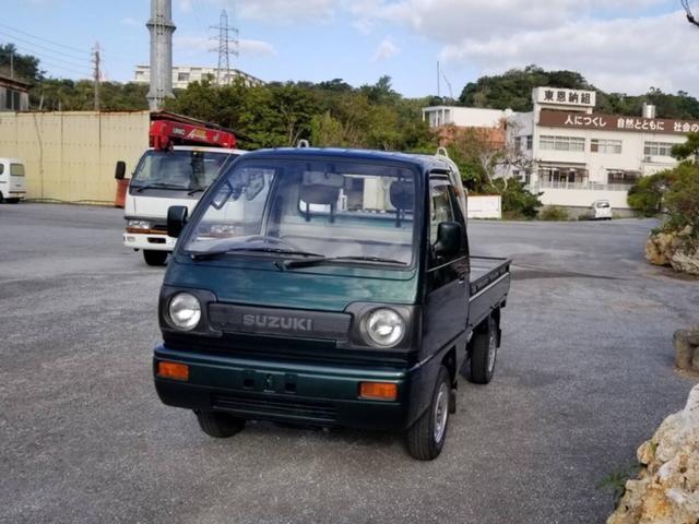 沖縄県の中古車ならキャリイトラック KA タイミングベルト交換済 4速MT 丸目ヘッドライト エアコン・パワステ無 クラシック軽トラ