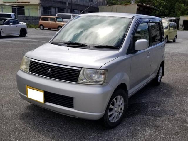 沖縄の中古車 三菱 eKワゴン 車両価格 11万円 リ済込 2004(平成16)年 14.5万km シルバー
