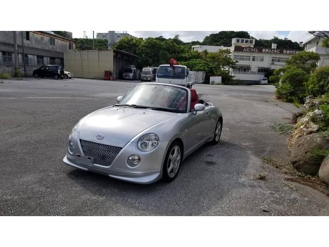沖縄県の中古車ならコペン アクティブトップ レザーシート フロントスポイラー 社外アルミ 2名乗り オープンカー 軽自動車