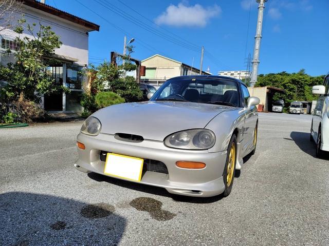 沖縄県豊見城市の中古車ならカプチーノ ベースグレード F6A型 エアロパーツ 2シーター オープンカー 5速マニュアル 14インチアルミホイール