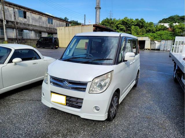 沖縄県豊見城市の中古車ならパレット T 両側パワースライドドア スマートキー プッシュスタート 純正エアロ・アルミホイール