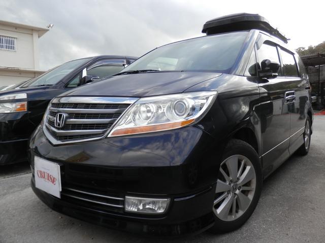 沖縄の中古車 ホンダ エリシオンプレステージ 車両価格 48万円 リ済込 平成20年 11.7万km ブラック