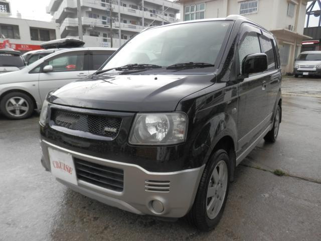 沖縄の中古車 三菱 eKアクティブ 車両価格 19万円 リ済込 2004(平成16)年 6.4万km ブラックII