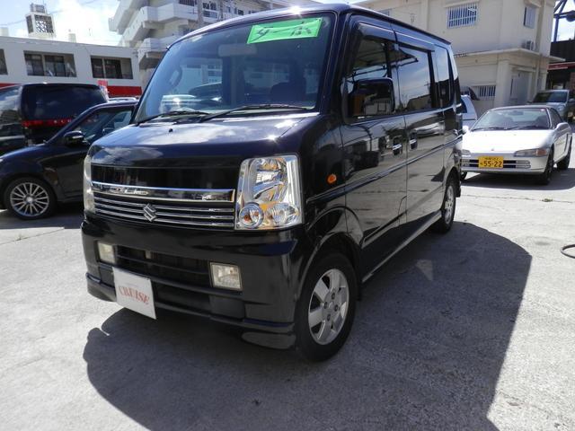 沖縄の中古車 スズキ エブリイワゴン 車両価格 33万円 リ済込 2006(平成18)年 15.8万km ブラックM