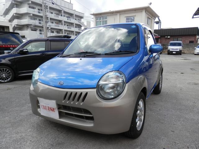 沖縄の中古車 スズキ ツイン 車両価格 23万円 リ済込 2003(平成15)年 16.2万km ブルーII